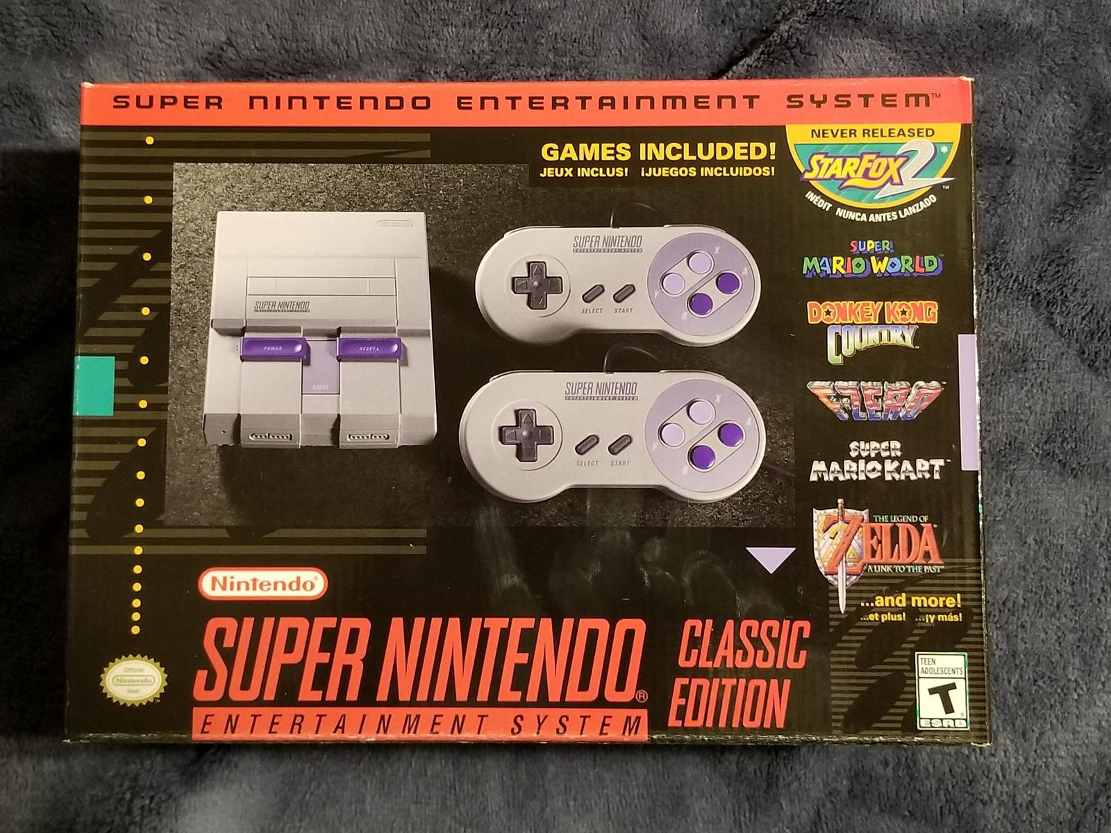 SNES Nintendo Classic Mini: Super Nintendo Entertainment System 237 Games - $280.00
