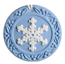 Snowflake  2001 Annual Jasperware Ornament by WEDGWOOD MADE IN UK NEW IN... - $44.54