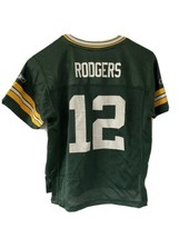Kids Large Reebok Aaron Rodgers #12 Green Bay Packers Football Jersey Go Pack - $19.79