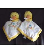 Carters White I Love Hugs Heart Duck Polka Dot Security Blanket Lovey Ba... - $24.45