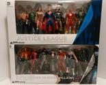 """Justice League & Super Heroes vs Villains New 52 14 Action Figures 7"""" Box Sets"""