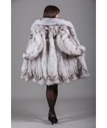 Blue Fox Fur Coat Fox Collar Knee Length Women's  Brand New All sizes MEXA - $643.50