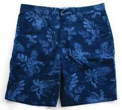 Tommy Hilfiger Blue Floral Print Flat Front Cotton Shorts Men's NWT - $48.74