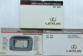2002 Lexus RX300 Owner's Manual W/Supplement Factory Books Warranty & Na... - $8.88