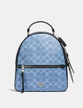 Coach 91501 Jordyn Backpack In Signature Canvas Light Denim - $227.69