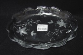 "Mikasa Garden Terrace Crystal Oval Serving Plate Dish WY923/349 11.5"" Ov... - $4.99"