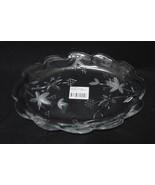 "Mikasa Garden Terrace Crystal Oval Serving Plate Dish WY923/349 11.5"" Ov... - $4.99"