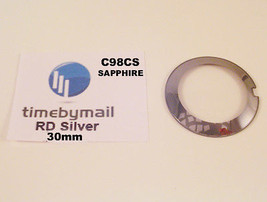 For RADO COUPOLE 30mm Silver SAPPHIRE Watch Glass Crystal New Spare Part... - $48.58