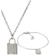 Swarovski Women's Crystal Stainless Steel Pendant Necklace Bracelet Set ... - $61.78