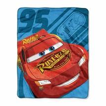 The Cars Lightning McQueen Silky Soft Throw Blanket Boys Bedroom Bedding - $11.99