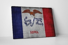 Vintage Iowa State Flag Gallery Wrapped Canvas Wall Art - $44.50+