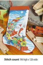 THE SANTA EXPRESS STOCKING     -     CROSS STITCH PATTERN    A1L2S - $8.37