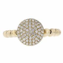 0.36ct Round Cut Diamond 14k Yellow  Gold Ribbed Midi Ring - £384.64 GBP