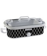 Electric Slow Cooker Crock Pot Removable Stoneware Casserole Dish Lid Re... - $921,07 MXN