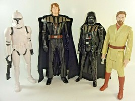 "Lot of 4 Hasbro 2012 / 2013 Star Wars LFL 12"" Action Figures Darth Vader... - $26.49"