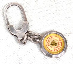 Jaguar 24 Litre Car Key Chain Sterling Silver 925 Italy - $222.21