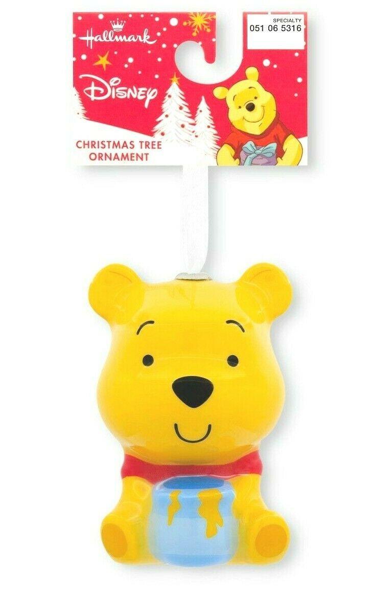 Hallmark Disney Winnie the Pooh Decoupage Shatterproof Christmas Ornament NWT