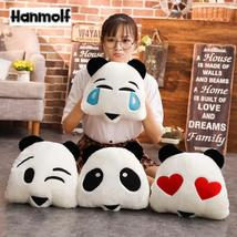 Emoji Panda Head Stuffed Plushie Toy Mascot Panda Cry/Blink/Love/Cute 30*30cm - $13.99
