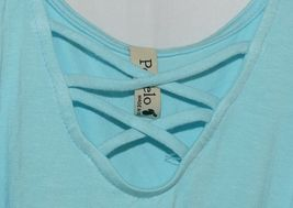 Pomelo Sky Blue Tunic Top Sleeveless Summer Top Girls Size Large image 3