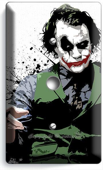 SAD JOKER BATMAN DARK KNIGHT LIGHT DIMMER CABLE WALL PLATES DORM ROOM ART DECOR