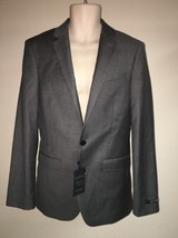 Express Blazer Suit Jacket Gray Producer Modern Fit Mens 36 Reg NWT - $52.25