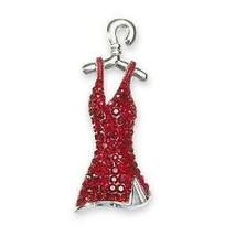 SWAROVSKI RED DRESS PIN MINT IN BOX MINIATURE BOUTIQUE DRESS !! - $49.95