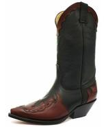 Grinders Arizona HI Black Burgundy Leather Slip On Pointed Biker Western... - $199.00