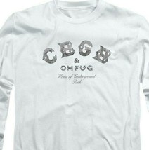 CBGB Retro 70's Punk Rock Bar NY City graphic long sleeve T-shirt CBGB104 image 2