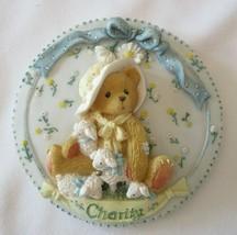 Enesco Cherished Teddies CHARITY Mini Wall Plate Plaque 1994 Priscilla Hillman - $7.95