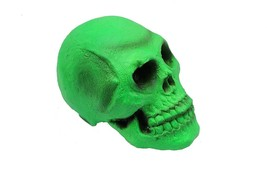 "Green Skull - Halloween Decoration. 7 1/2"". Rubber.   Highly Detailed. - $9.49"