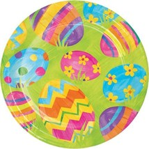 """Easter Egg Toss 8 Ct 7"""" Dessert Cake Paper Plates - $3.70"""