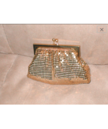 Vintage 1950's Whiting and Davis Gold Metal Mesh Coin Purse - $39.00