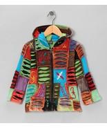 Girls Jacket  Handmade Cotton Hoodie Cool Rainbow Zip-Up MSRP $39.99 SAV... - $32.99
