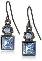 1928 Jewelry Blue Square Drop Earrings - $31.93