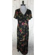 Monsoon womens Empire Waist Maxi Column Dress 8 M Vintage Rose 30s 40s S... - $45.00
