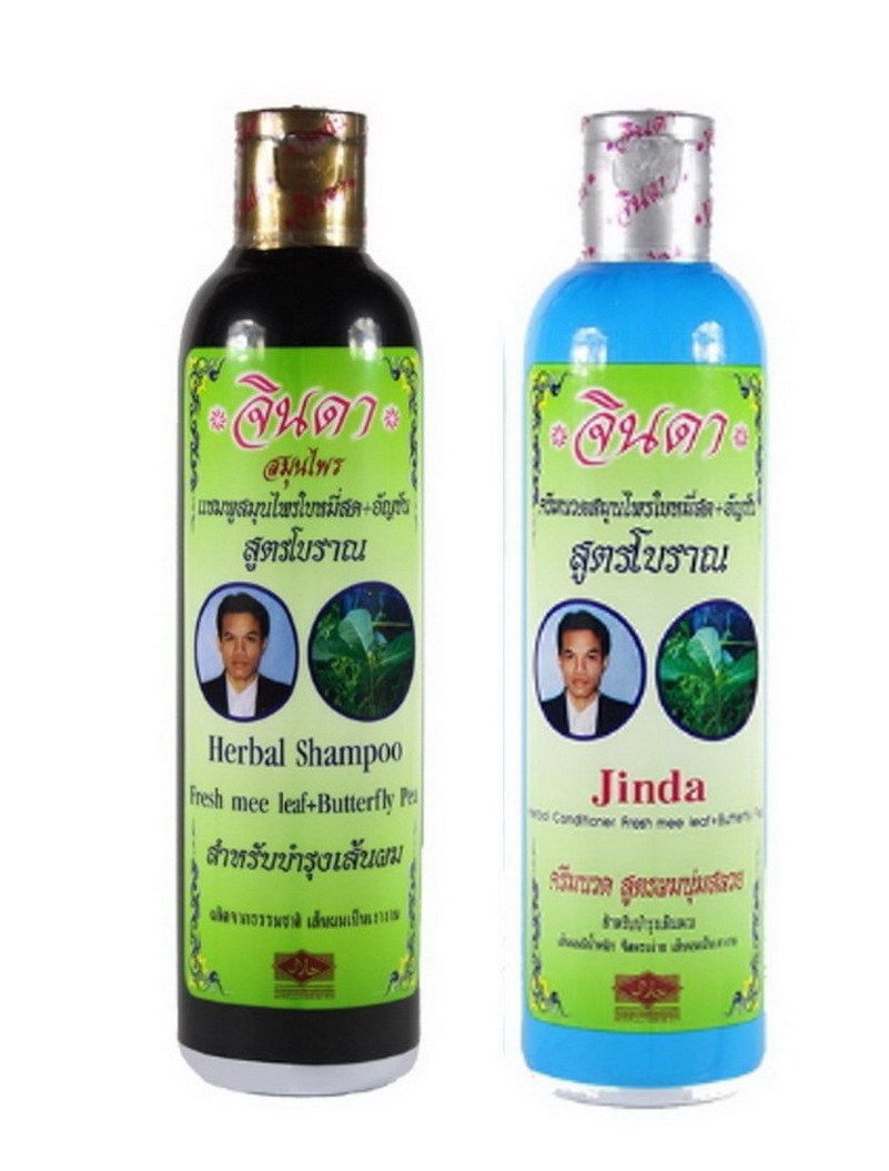 Primary image for JINDA Natural Hair Growth Promoter Shampoo Stop Hair Loss Solutions 250 ml.
