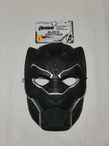 Primary image for NEW w/ tags Marvel Avengers Black Panther Kids Halloween Plastic Mask