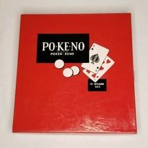 Po-Ke-No 12 Board Set Poker-Keno  - $5.95