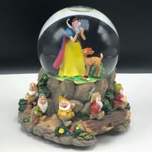 WALT DISNEY SNOWGLOBE snowdome water ball Snow White 7 seven dwarfs music box 2 - $217.80