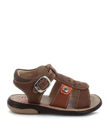 Boy's Rilo Leather Baby Brown open-toe Sandal - $28.99