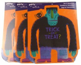 Hallmark Party Express Halloween Trick or Treat Decorations Lot 3 Packs - £11.20 GBP