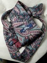 Stafford Executive Designer 100% Italian Silk Necktie Tie Black Blue Pur... - $10.93