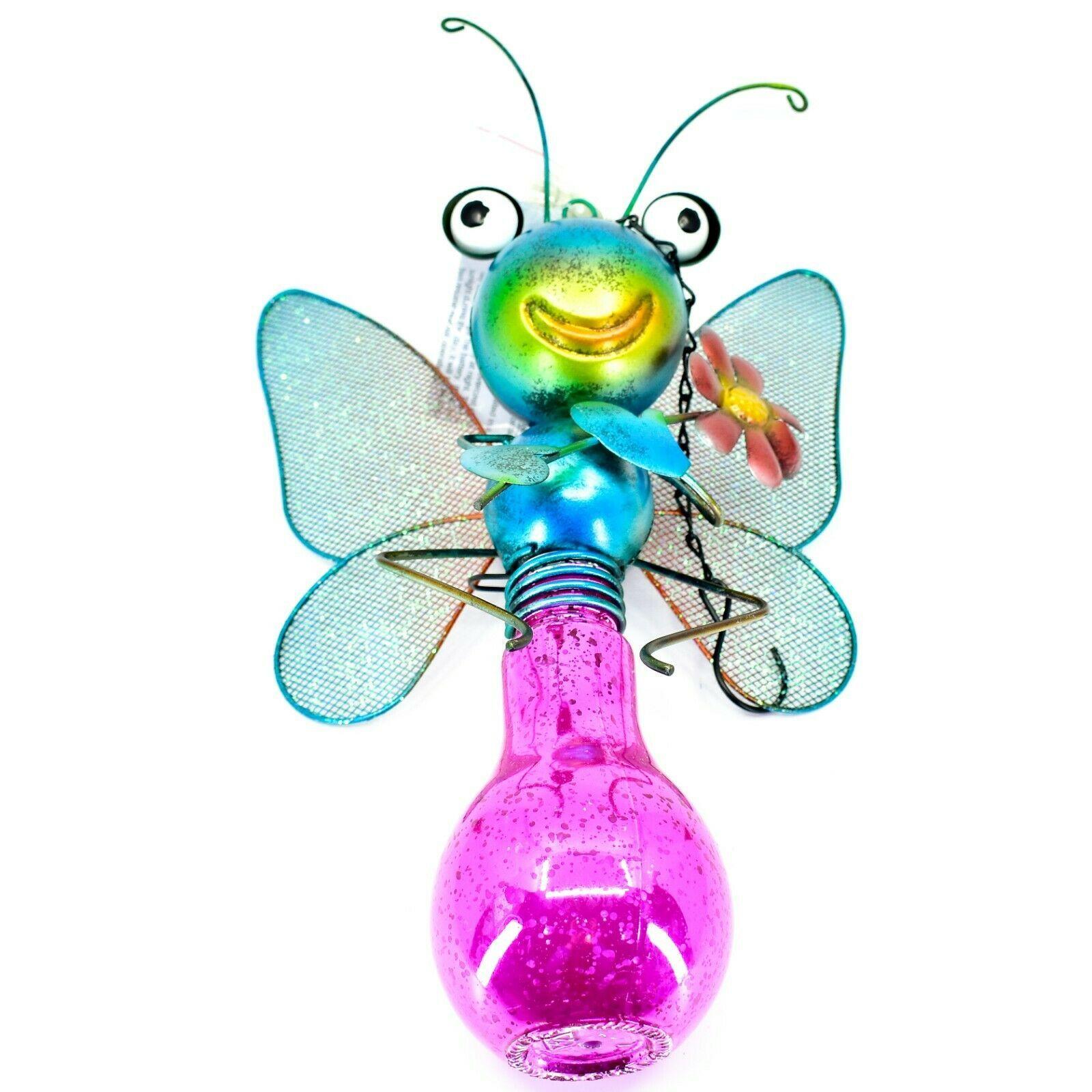 Regal Art & Gift Metal & Glass Butterfly Hanging Solar Light Garden Decor