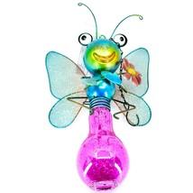 Regal Art & Gift Metal & Glass Butterfly Hanging Solar Light Garden Decor image 1