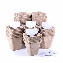 "Azoco 60 Pack 3"" Peat Pots, Square Nursery Seedling Starter Pots, Garden... - €12,15 EUR"