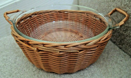 Serving Bowl Basket Combo Anchor Hocking Fire King Oven Proof 1 1/2 Qt S... - $12.99