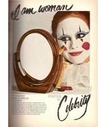 1978 Celebrity Makeup Mirror Clown Francesco Scavullo Vintage Print Ad 1... - $6.33