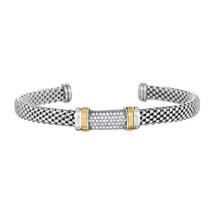 Phillip Gavriel Sterling Silver Diamond Bar Design Cuff Bracelet - $649.99