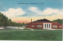 Anderson South Carolina SC Recreation Center Postcard Linen Colourpicture - $3.34