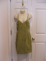 Nwt $299 Newport News Light Olive Suede Fully Lined Dress Sleeveless Size 8 - $73.51